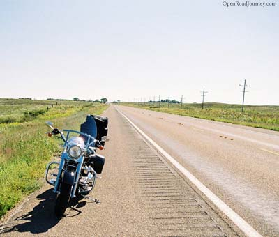 Straight motorcycle road